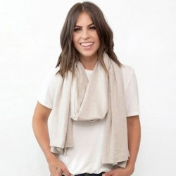 Organic Cotton Travel Scarf - Birch