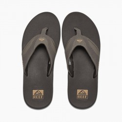 Reef Fanning Flip Flop - Brown / Gum