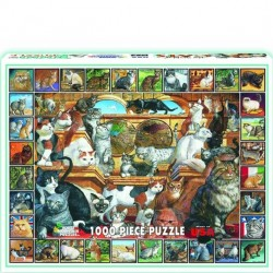 White Mountain 1000 pc Puzzle - World of Cats