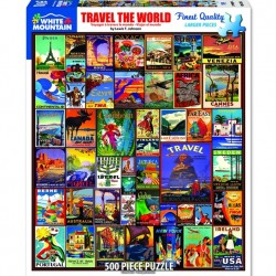 White Mountain 550 pc Puzzle - Travel the World