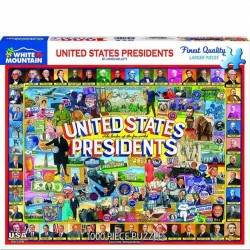 White Mountain 1000 pc Puzzle - US Presidents Collage