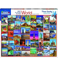 White Mountain 1000 pc Puzzle - Best Places in the World