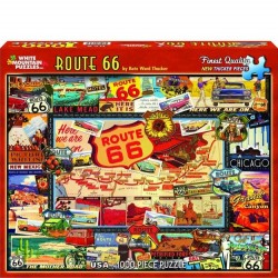 White Mountain 1000 pc Puzzle - Route 66