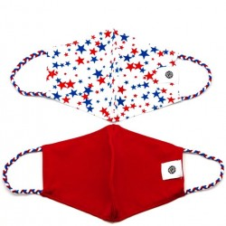 Face Mask 2 Pack - Stars and Red Solid