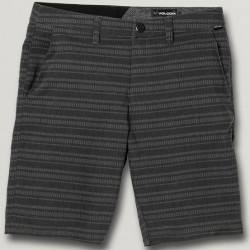 Recycled Hybrid Short with Stretch - Black Stripe