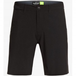 Recycled Hybrid Short with Stretch - Black Solid