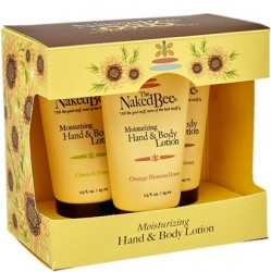 The Naked Bee Orange Blossom Honey 3 PC Hand and Body Lotion Gift Set