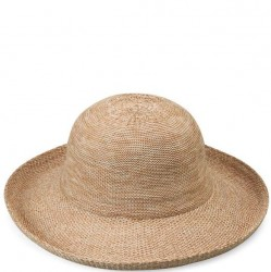 "Wallaroo Victoria 3 1/2"" Brim Packable Hat - Mixed Camel"
