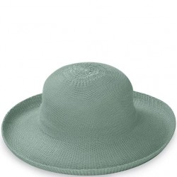 "Wallaroo Victoria 3 1/2"" Brim Packable Hat - Seafoam"