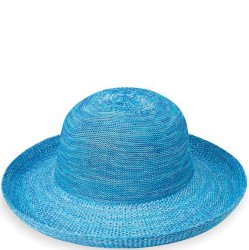 "Wallaroo Victoria 3 1/2"" Brim Packable Hat - Mixed Aqua"