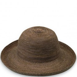 "Wallaroo Victoria 3 1/2"" Brim Packable Hat - Suede Brown"