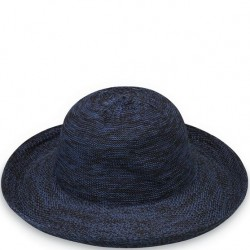 "Wallaroo Victoria 3 1/2"" Brim Packable Hat - Mixed Navy"