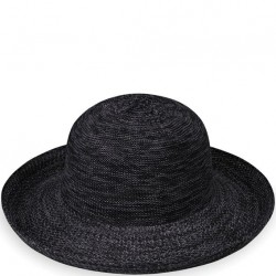 "Wallaroo Victoria 3 1/2"" Brim Packable Hat - Mixed Black"