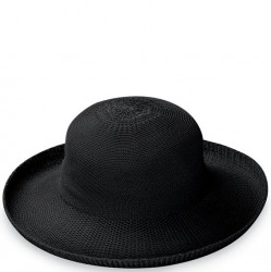 "Wallaroo Victoria 3 1/2"" Brim Packable Hat - Black"