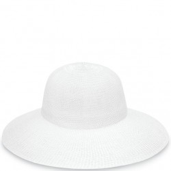 "Wallaroo Victoria Diva 4 1/2"" Brim Packable Hat - White"