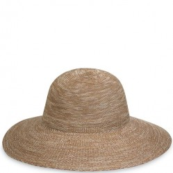 "Wallaroo Victoria Diva 4 1/2"" Brim Packable Hat - Mixed Camel"
