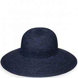 "Wallaroo Victoria Diva 4 1/2"" Brim Packable Hat - Mixed Navy"