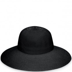 "Wallaroo Victoria Diva 4 1/2"" Brim Packable Hat - Black"