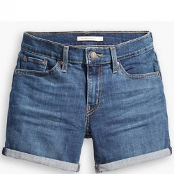 Levi's Mid-Length Denim Shorts with Roll Cuff - Maui Ocean