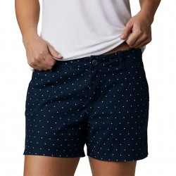Columbia W Bonehead Stretch Short - Navy Dot