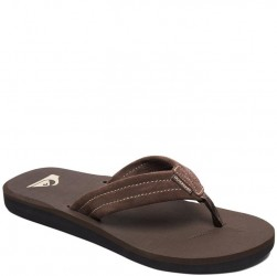 Quiksilver Carver Suede Leather Flip Flop - Brown