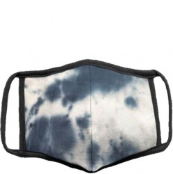 Soft Lined Face Mask - Navy Tie Dye