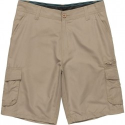 Cargo Shorts with Stretch - Khaki Solid
