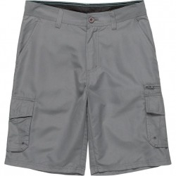 Burnside Hybrid Cargo Shorts with Stretch - Charcoal Solid