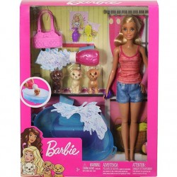 Barbie with Accessories and Pets, Bath