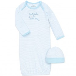 Infant Boy 2 pc Sleeper Gown with Hat Set - Thank Heaven for Little Boys