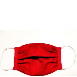 Kids 6 to 12 Face Mask - Red with Red Trim