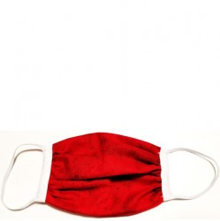 Kids 6 to 12 Face Mask - Red with White Trim