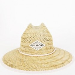 Billabong Tiptop Straw Hat with Striped Inner Brim - Gypsy Pink