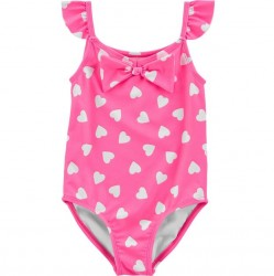 Toddler Girl Swim - Carters Neon Heart 1 PC