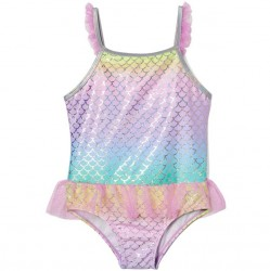 Toddler Girls Swim - Ruffle Ombre Scallop
