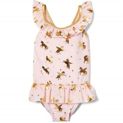 Toddler Girls Swim - Ruffle Unicorn