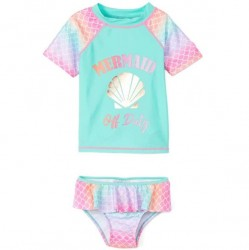 Toddler Girls Swim - 2 PC Mermaid Off Duty