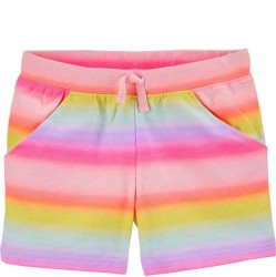4 to 6X Girls Carters Gradient Rainbow Pull-On French Terry Shorts