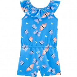 4 to 6X Girls Carters Butterfly Jersey Romper