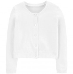 Toddler Girl Carters White Cardigan Sweater