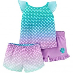 Toddler Girl Carters Pajama - 3 pc Mermaid Set