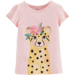Toddler Girl Carters Leopard Tee