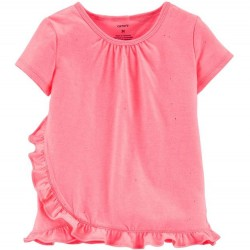Toddler Girl Carters Glitter Ruffle Top