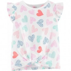 Toddler Girl Carters Heart Print Tee