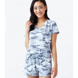 Splendid Shortie Pajama Set - Zen Blue Camo