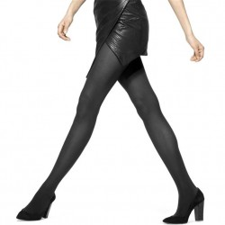 Hue Opaque Tights with Control Top - Black