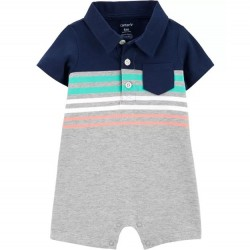 Infant Boy Carters Polo Style Romper