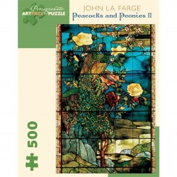 Pomegranate 500 PC Puzzle - Peacocks and Peonies