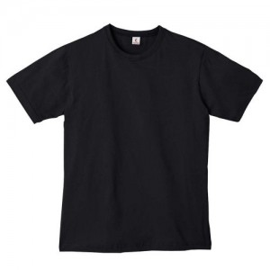 Canvas 100% Ringspun Cotton Short Sleeve Crewneck  T-shirt - BLACK