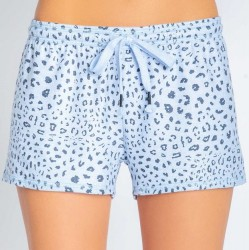 PJ Salvage Blue Leopard Short
